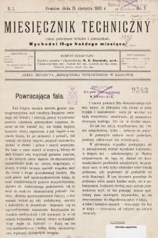 Miesięcznik Techniczny : pismo poświęcone technice i przemysłowi. 1905, nr2