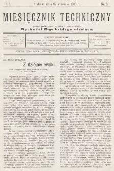 Miesięcznik Techniczny : pismo poświęcone technice i przemysłowi. 1905, nr3
