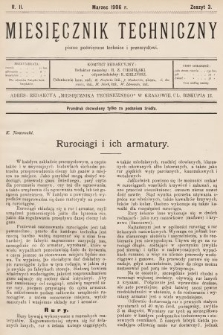 Miesięcznik Techniczny : pismo poświęcone technice i przemysłowi. 1906, nr3