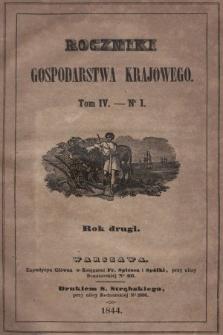 Roczniki Gospodarstwa Krajowego. R. 2, 1844, T. 4, nr 1