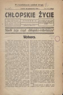 Chłopskie Życie. 1930, nr1 (po konfiskacie nakład drugi)