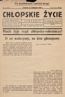 Chłopskie Życie. 1930, nr2 (po konfiskacie nakład drugi)