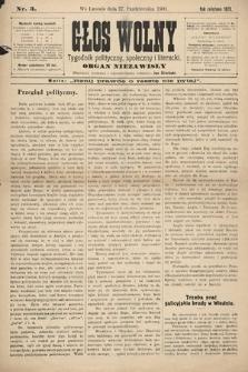 Głos Wolny : tygodnik polityczny, społeczny iliteracki : organ niezawisły. 1901, nr3