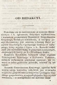 Roczniki Gospodarstwa Krajowego. R. 16, 1858, T. 32, nr [2]