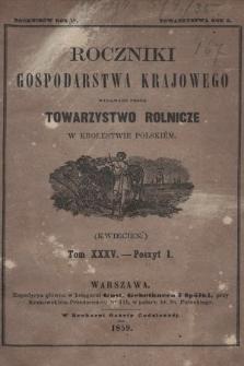 Roczniki Gospodarstwa Krajowego. R. 17, 1859, T. 35, poszyt 1