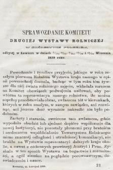 Roczniki Gospodarstwa Krajowego. R. 18, 1859, T. 37, poszyt 2