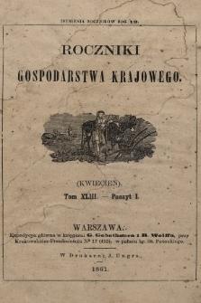 Roczniki Gospodarstwa Krajowego. R. 19, 1861, T. 43, poszyt 1