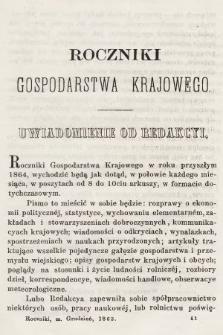 Roczniki Gospodarstwa Krajowego. R. 22, 1863, T. 53, poszyt [3]