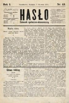 Hasło : dziennik społeczno-ekonomiczny. 1874, nr45
