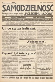 """Samodzielność : dwutygodnik poświęcony sprawom samodzielności kulturalno - gospodarczej czyli """"polskiemu ładowi"""". 1938, nr 3"""
