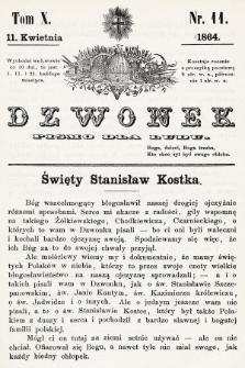 Dzwonek : pismo dla ludu. T. 10, 1864, nr11