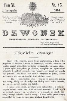 Dzwonek : pismo dla ludu. T. 11, 1864, nr13