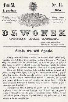 Dzwonek : pismo dla ludu. T. 11, 1864, nr16