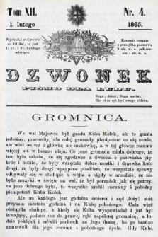 Dzwonek : pismo dla ludu. T. 12, 1865, nr4
