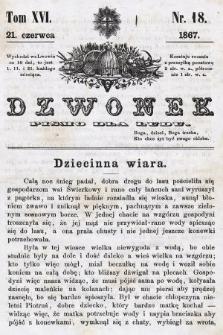 Dzwonek : pismo dla ludu. T. 16, 1867, nr18