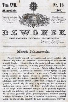 Dzwonek : pismo dla ludu. T. 17, 1867, nr18