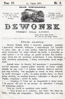 Dzwonek : pismo dla ludu. Nowa Serya. R. 12, 1871, T. 4, nr2