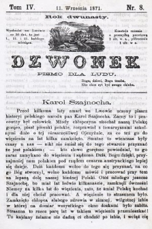 Dzwonek : pismo dla ludu. Nowa Serya. R. 12, 1871, T. 4, nr8
