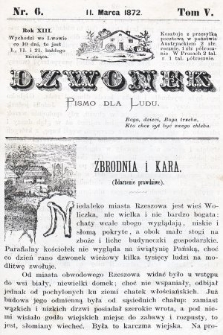 Dzwonek : pismo dla ludu. Nowa Serya. R. 13, 1872, T. 5, nr6