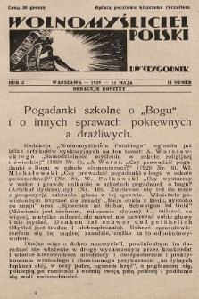 Wolnomyśliciel Polski. 1929, nr11