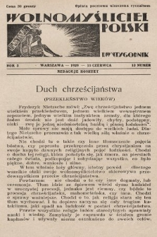 Wolnomyśliciel Polski. 1929, nr13