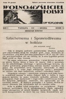 Wolnomyśliciel Polski. 1929, nr24