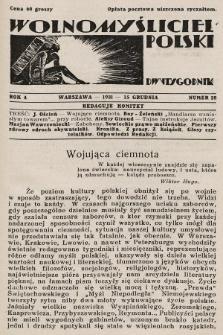 Wolnomyśliciel Polski. 1931, nr28