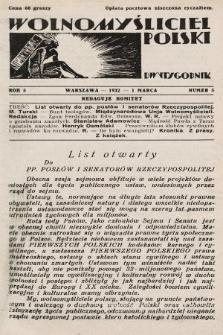 Wolnomyśliciel Polski. 1932, nr5