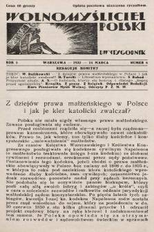 Wolnomyśliciel Polski. 1932, nr6