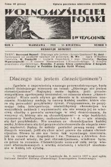Wolnomyśliciel Polski. 1932, nr8