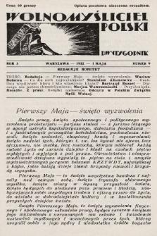 Wolnomyśliciel Polski. 1932, nr9