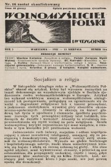 Wolnomyśliciel Polski. 1932, nr16 a (po konfiskacie nakład drugi)