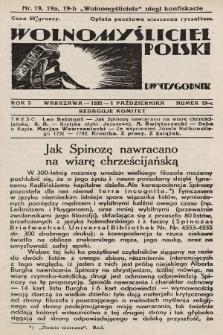Wolnomyśliciel Polski. 1932, nr19 c (po konfiskacie nakład czwarty)