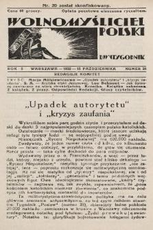 Wolnomyśliciel Polski. 1932, nr21