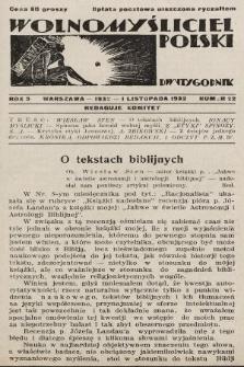 Wolnomyśliciel Polski. 1932, nr22