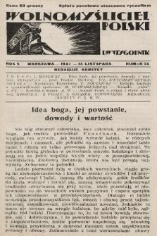 Wolnomyśliciel Polski. 1932, nr23