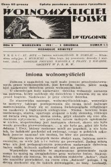 Wolnomyśliciel Polski. 1932, nr24