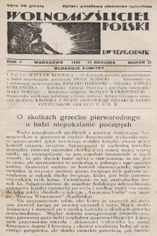 Wolnomyśliciel Polski. 1932, nr25