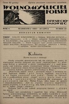 Wolnomyśliciel Polski. 1933, nr25
