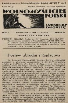Wolnomyśliciel Polski. 1934, nr22