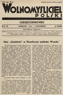 Wolnomyśliciel Polski. 1935, nr36