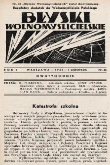 """Błyski Wolnomyślicielskie : bezpłatny dodatek do """"Wolnomyśliciela Polskiego"""". 1935, nr26 [po konfiskacie]"""