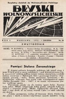 """Błyski Wolnomyślicielskie : bezpłatny dodatek do """"Wolnomyśliciela Polskiego"""". 1935, nr28"""