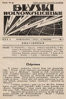 Błyski Wolnomyślicielskie. 1936, nr3
