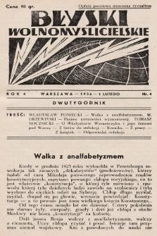 Błyski Wolnomyślicielskie. 1936, nr4