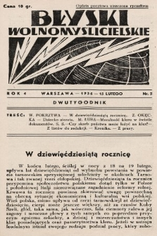 Błyski Wolnomyślicielskie. 1936, nr5