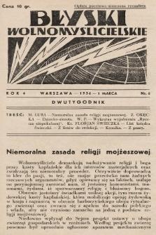 Błyski Wolnomyślicielskie. 1936, nr6