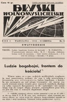Błyski Wolnomyślicielskie. 1936, nr13