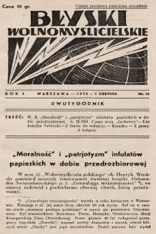 Błyski Wolnomyślicielskie. 1936, nr16