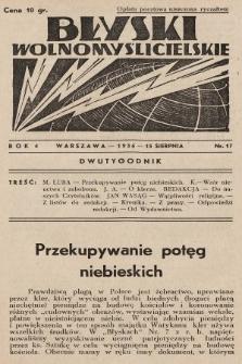 Błyski Wolnomyślicielskie. 1936, nr17